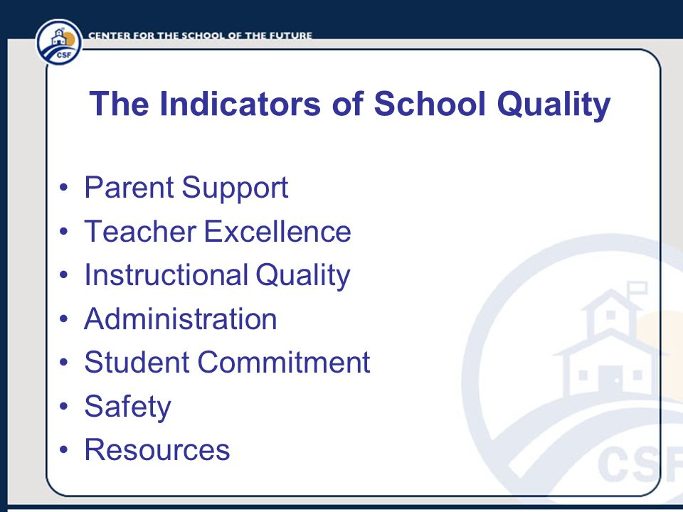 The Indicators of School Quality