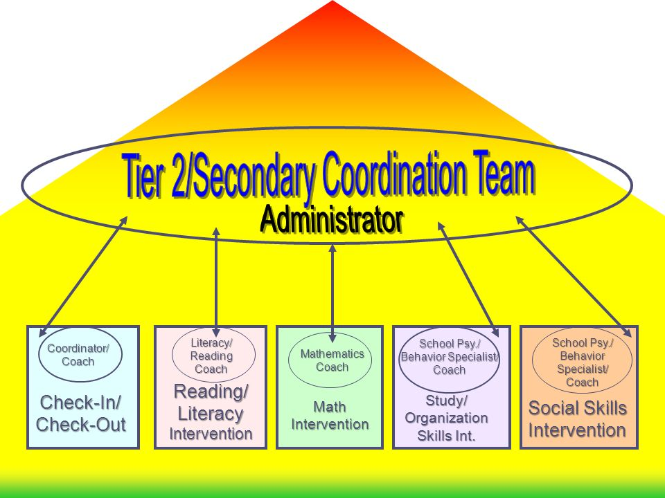 Tier 2/Secondary Coordination Team