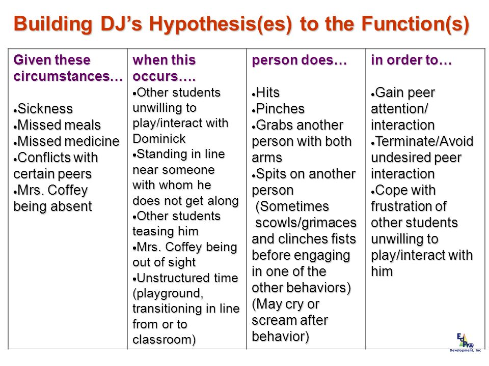 Building DJ's Hypothesis(es) to the Function(s)