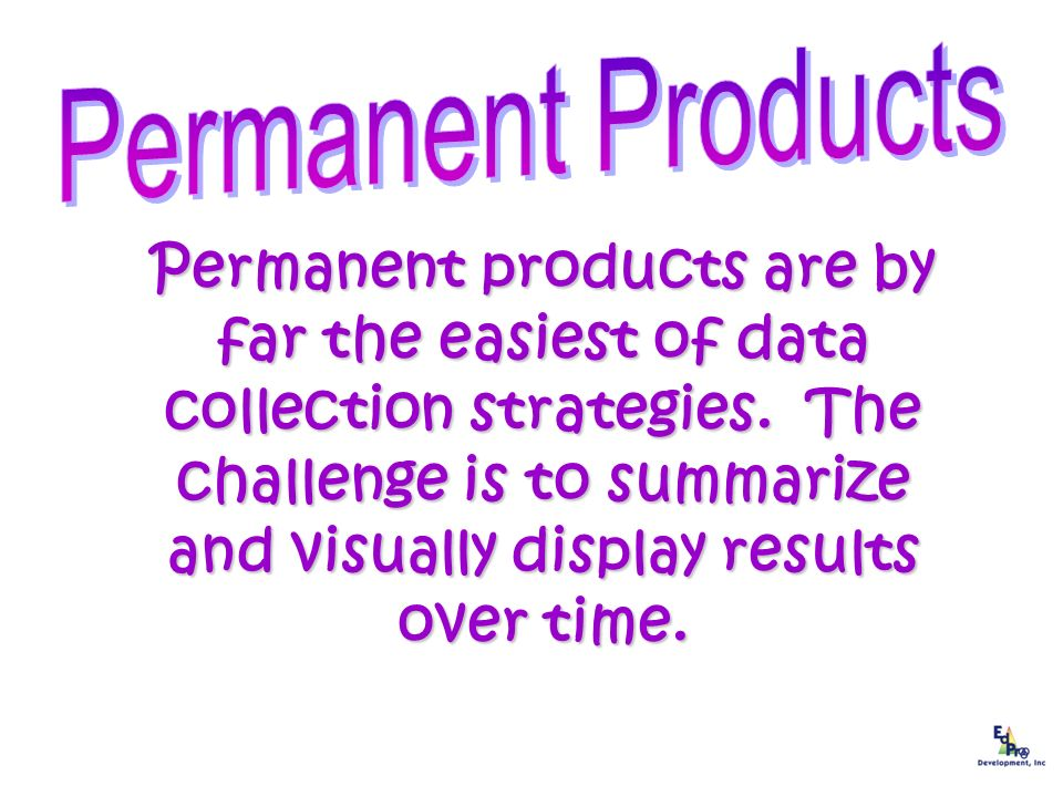 Permanent Products