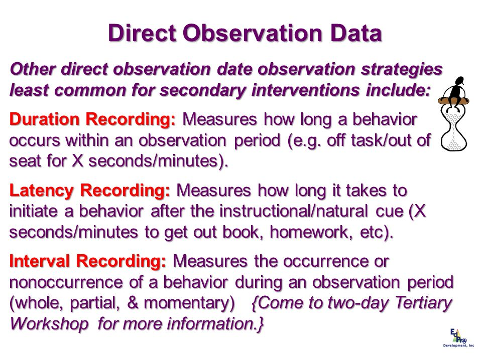 Direct Observation Data