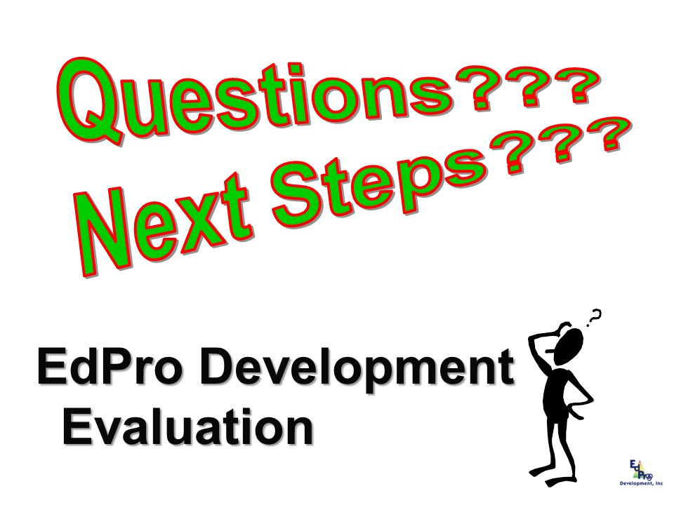 EdPro Development Evaluation