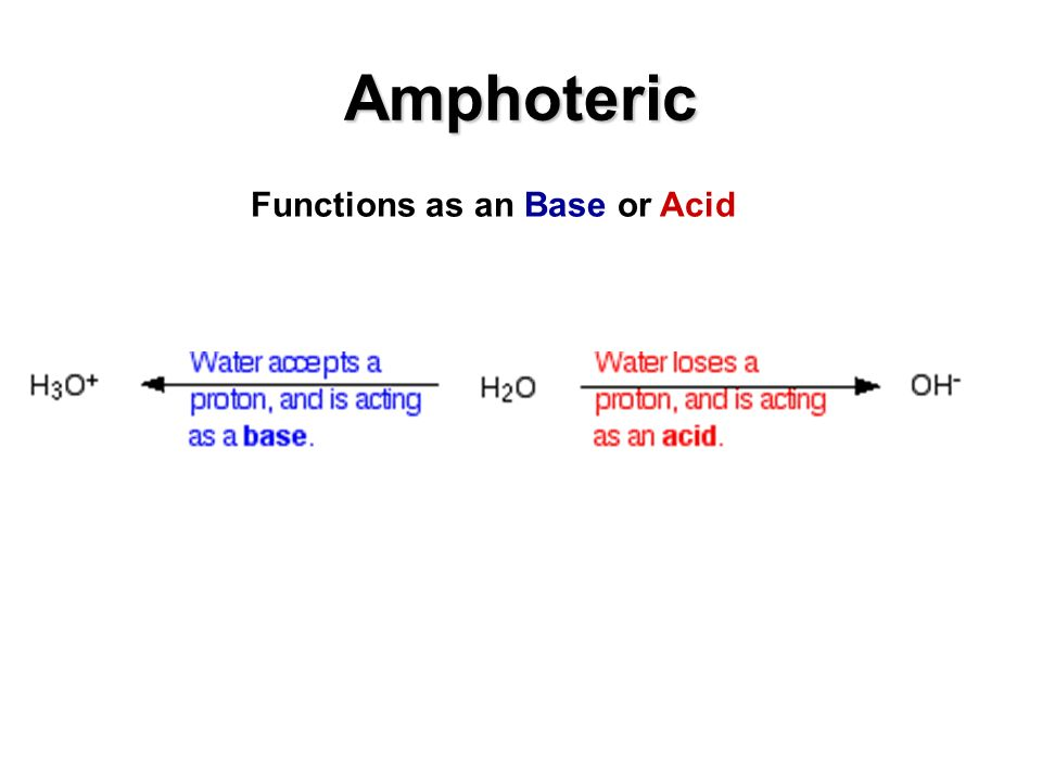 Functions as an Base or Acid