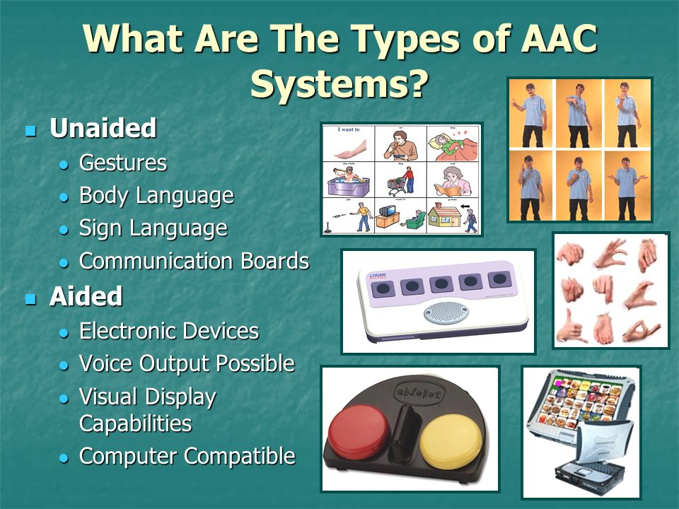 What Are The Types of AAC Systems