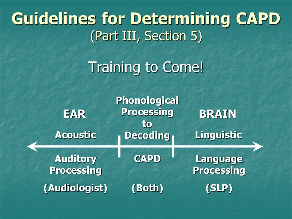 Guidelines for Determining CAPD (Part III, Section 5)