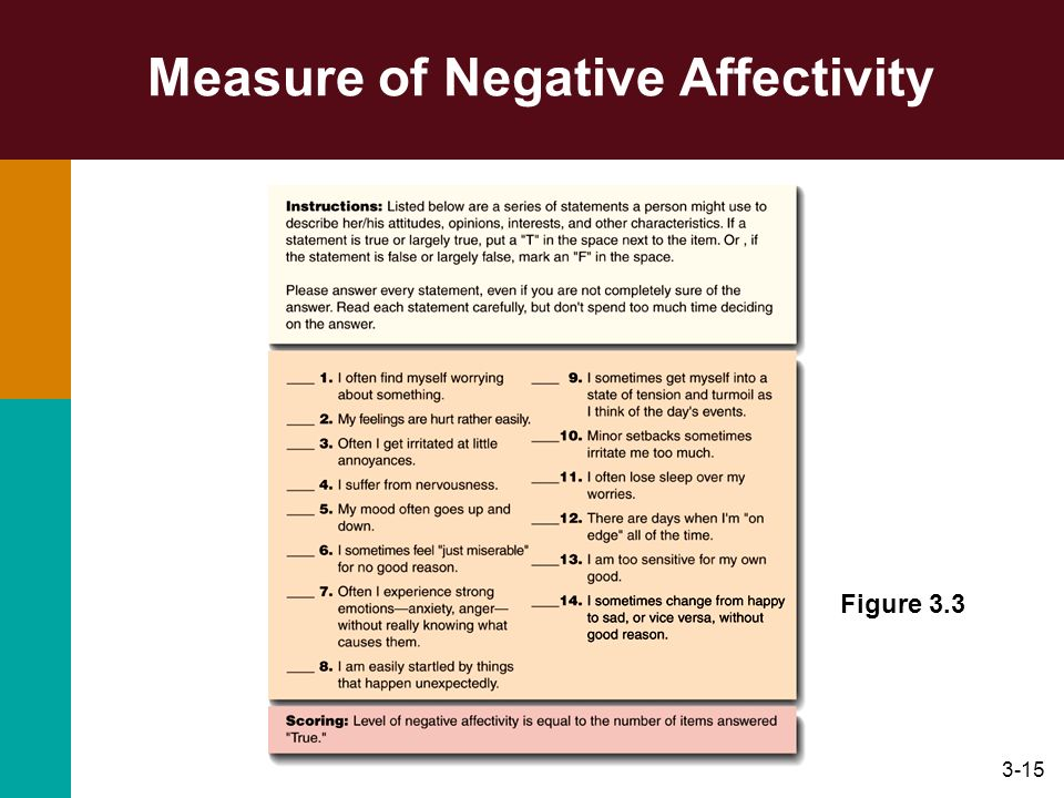 Measure of Negative Affectivity