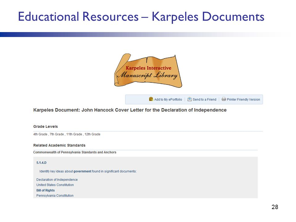 Educational Resources – Karpeles Documents