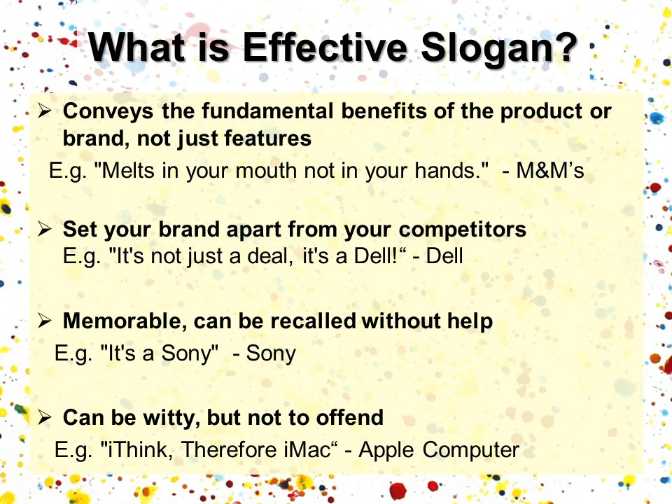 What is Effective Slogan