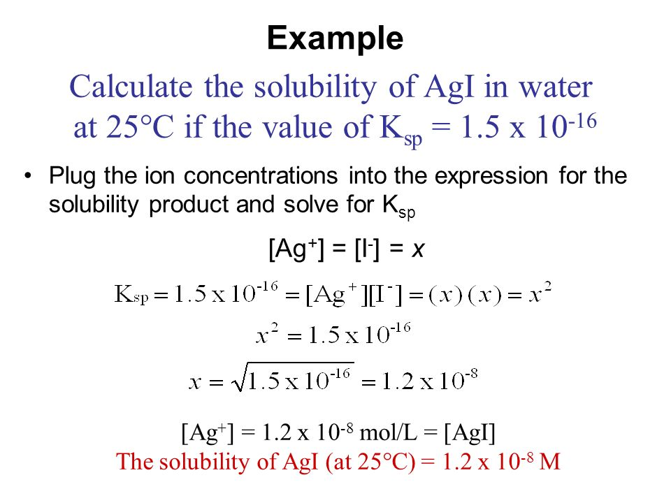 Solubility Equilibria Ppt Video Online Download