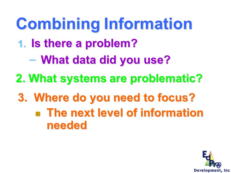 Combining Information