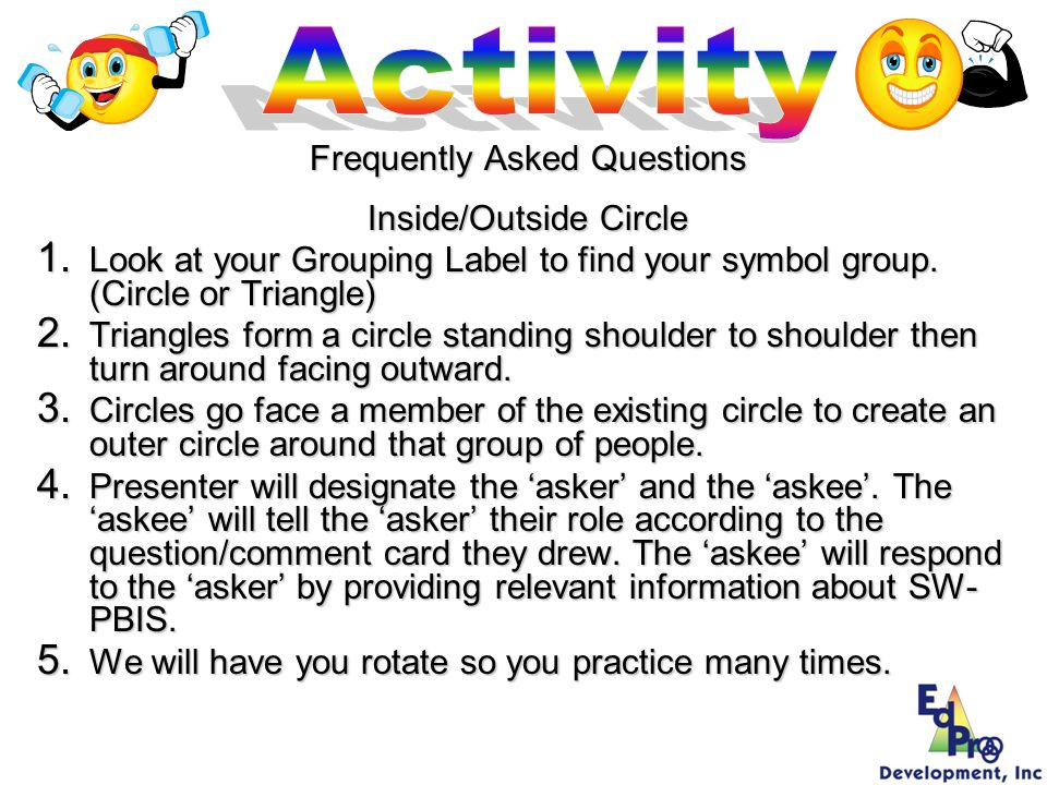 Activity Frequently Asked Questions Inside/Outside Circle