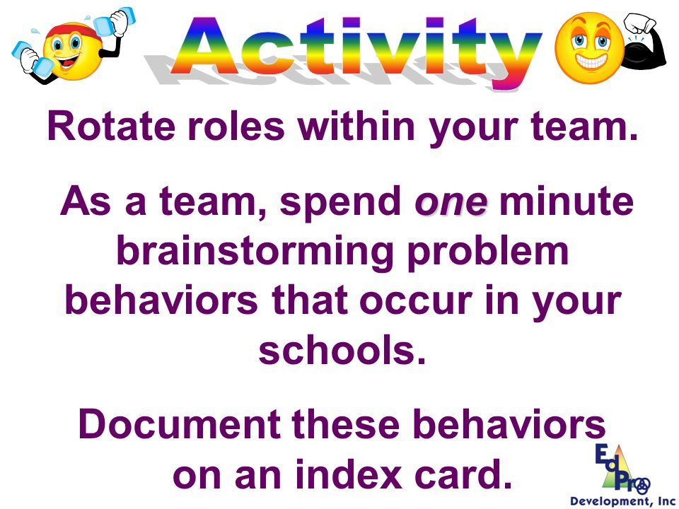 Rotate roles within your team.