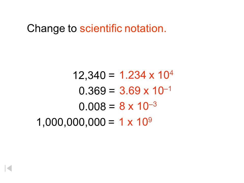 Change to scientific notation.