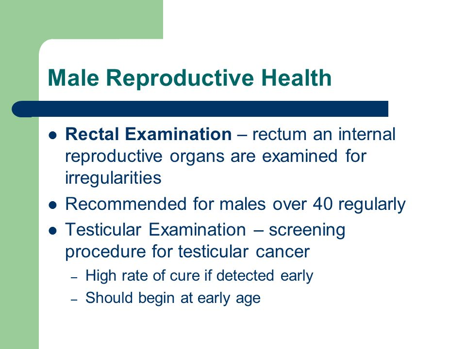 Male Reproductive Health
