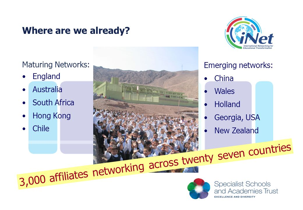 3,000 affiliates networking across twenty seven countries