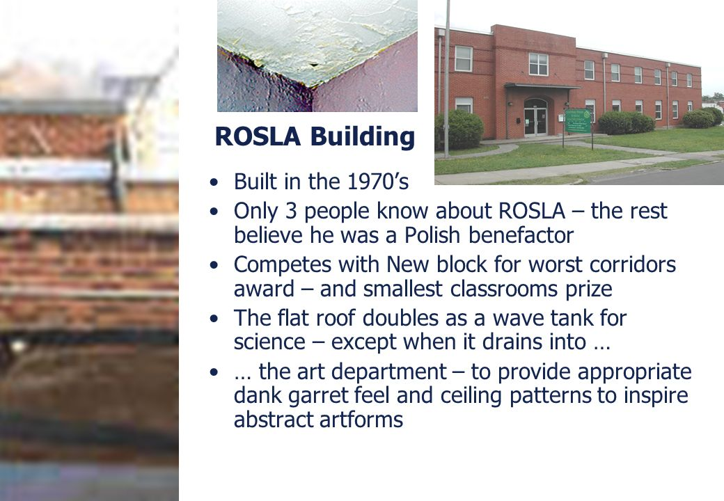 ROSLA Building Built in the 1970's