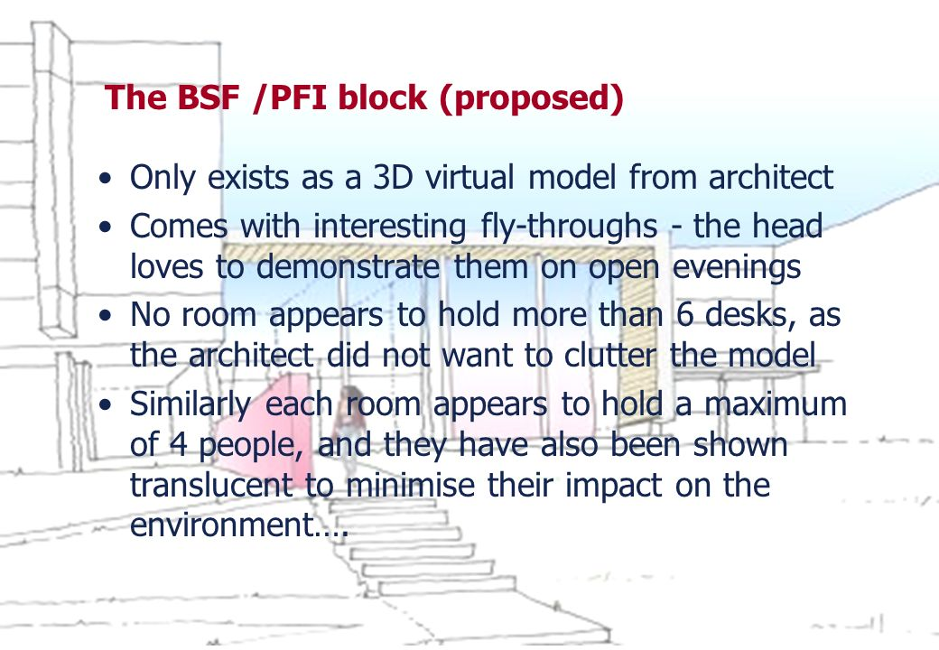 The BSF /PFI block (proposed)