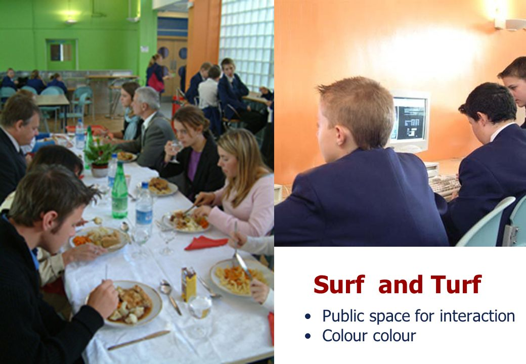 25 March 2017 Surf and Turf Public space for interaction Colour colour
