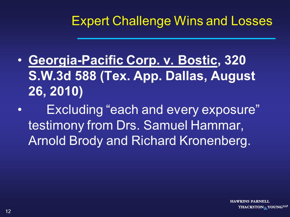 Expert Challenge Wins and Losses