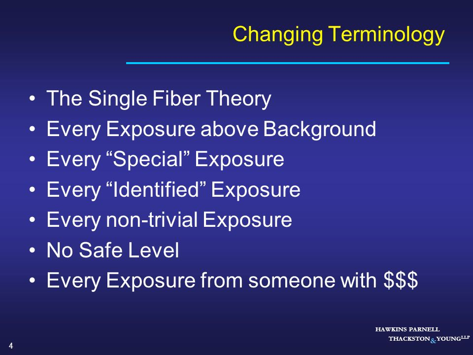 The Single Fiber Theory Every Exposure above Background