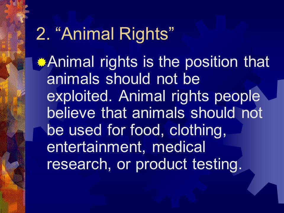 2. Animal Rights