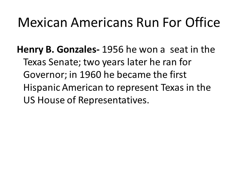 Mexican Americans Run For Office