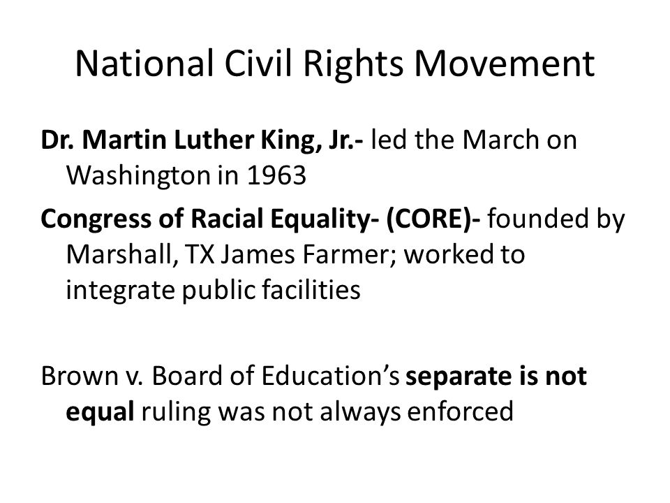 National Civil Rights Movement