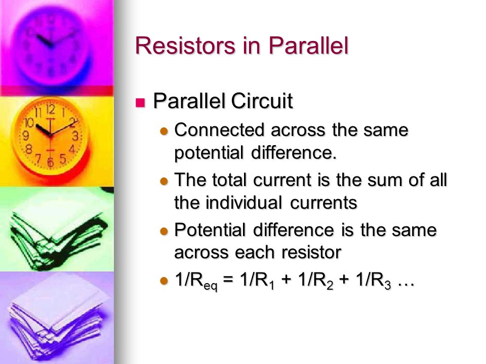 Resistors in Parallel Parallel Circuit