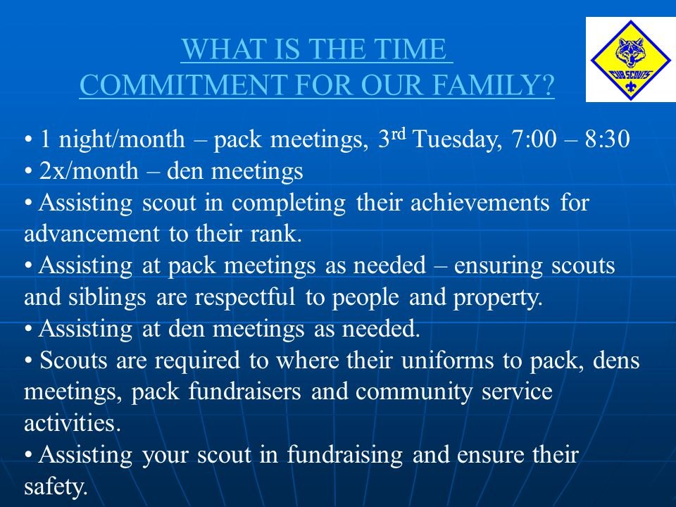 COMMITMENT FOR OUR FAMILY