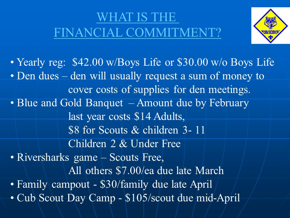 WHAT IS THE FINANCIAL COMMITMENT