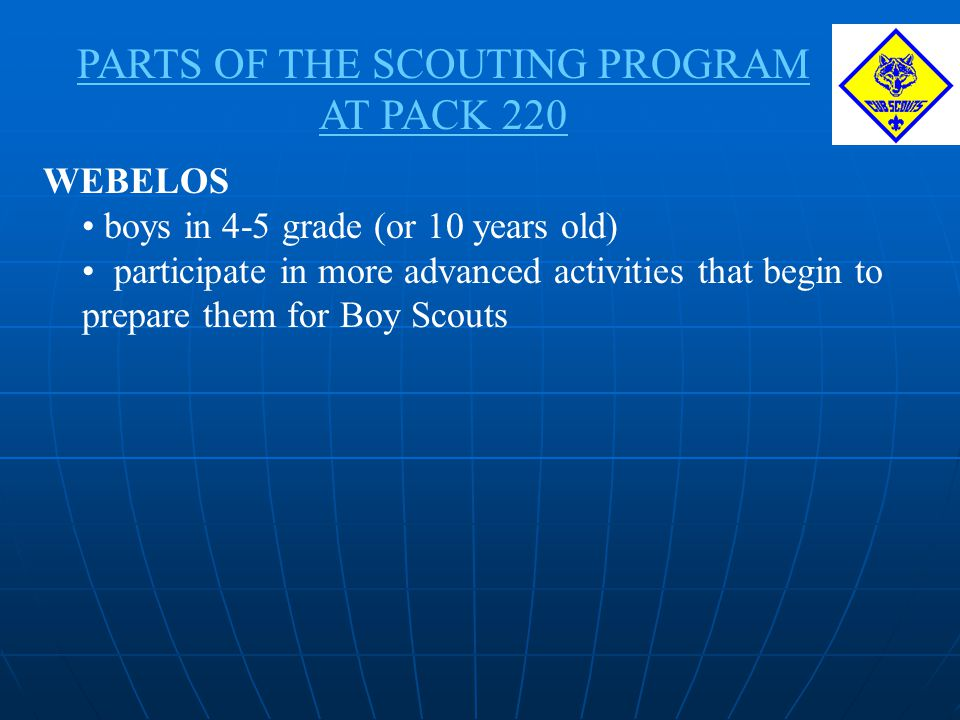 PARTS OF THE SCOUTING PROGRAM