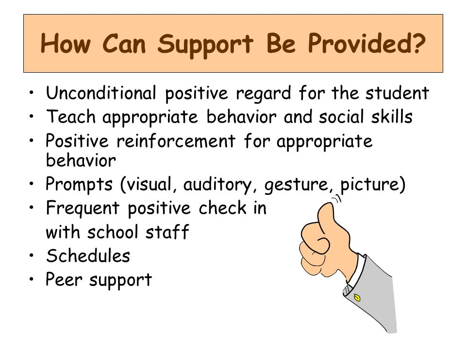 How Can Support Be Provided
