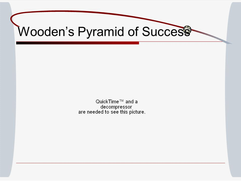 Wooden's Pyramid of Success