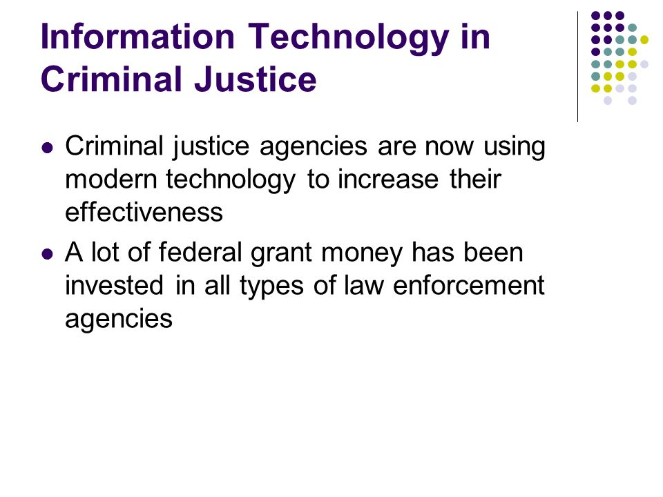 Information Technology in Criminal Justice