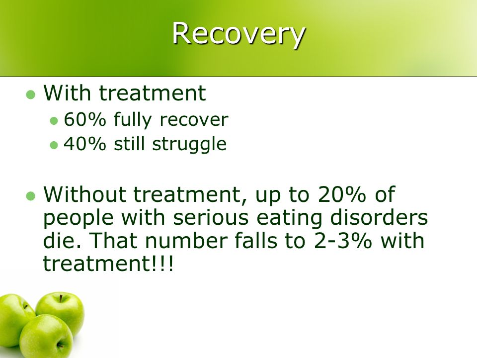 Recovery With treatment