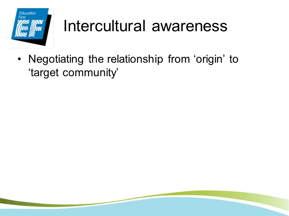 Intercultural awareness