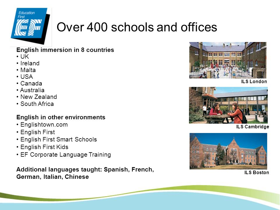 Over 400 schools and offices