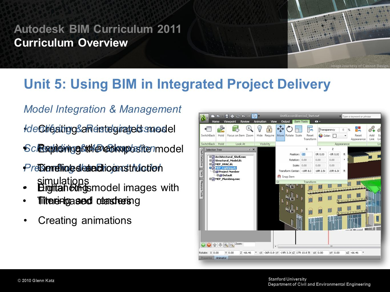 Unit 5: Using BIM in Integrated Project Delivery