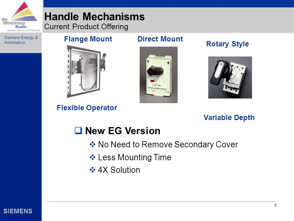 Handle Mechanisms Current Product Offering