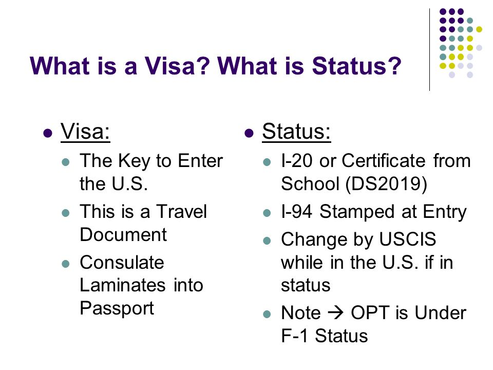 What is a Visa What is Status
