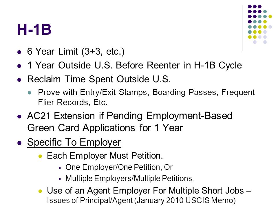 H-1B Specific To Employer 6 Year Limit (3+3, etc.)