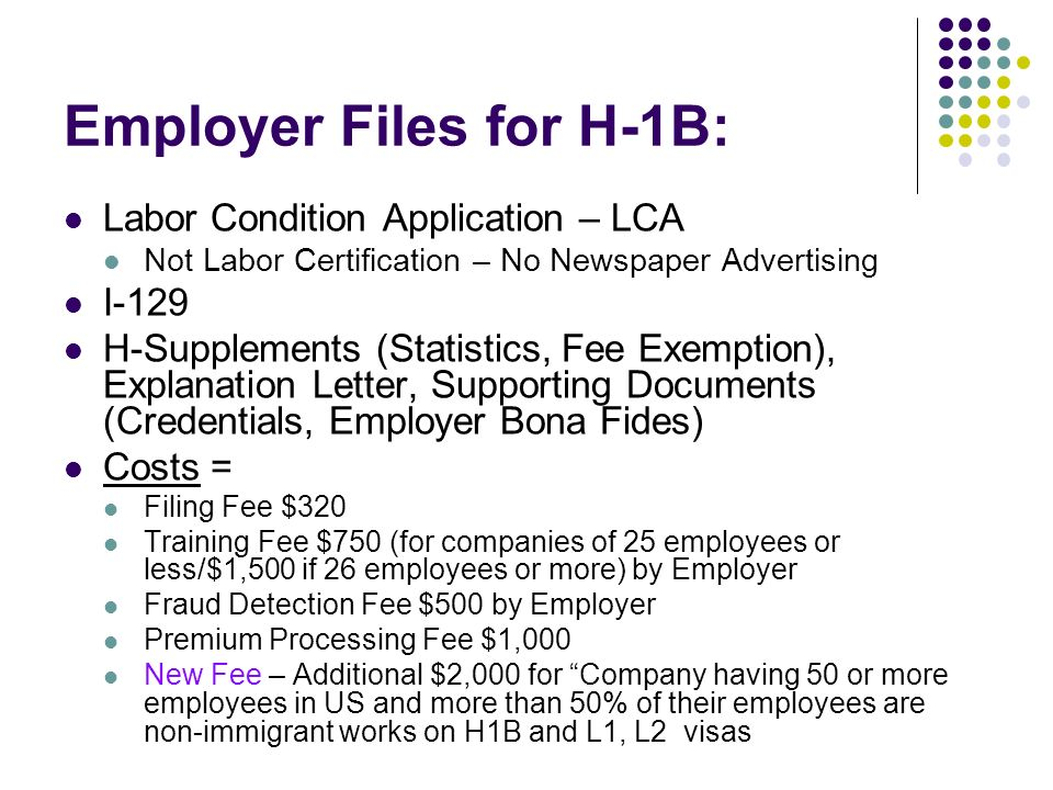 Employer Files for H-1B: