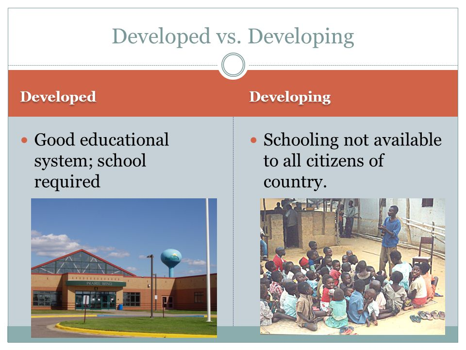 Developed vs. Developing