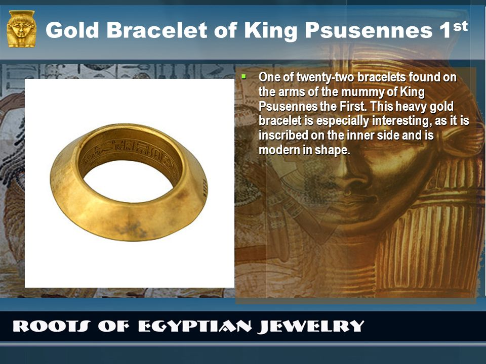 Gold Bracelet of King Psusennes 1st