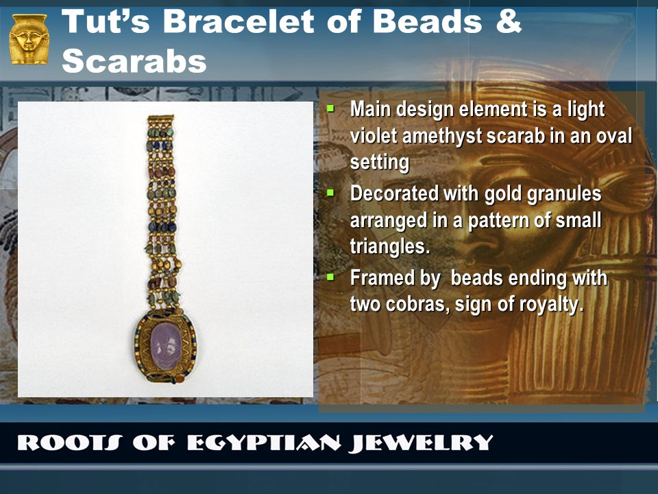 Tut's Bracelet of Beads & Scarabs