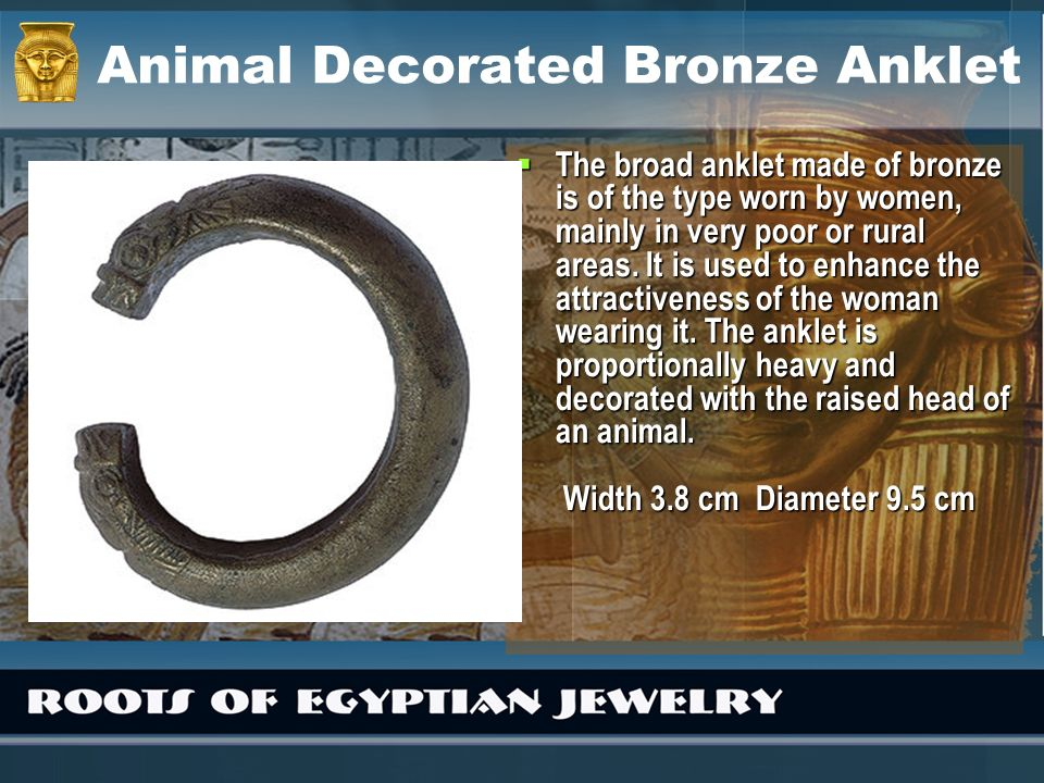 Animal Decorated Bronze Anklet