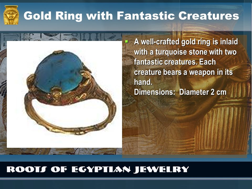 Gold Ring with Fantastic Creatures