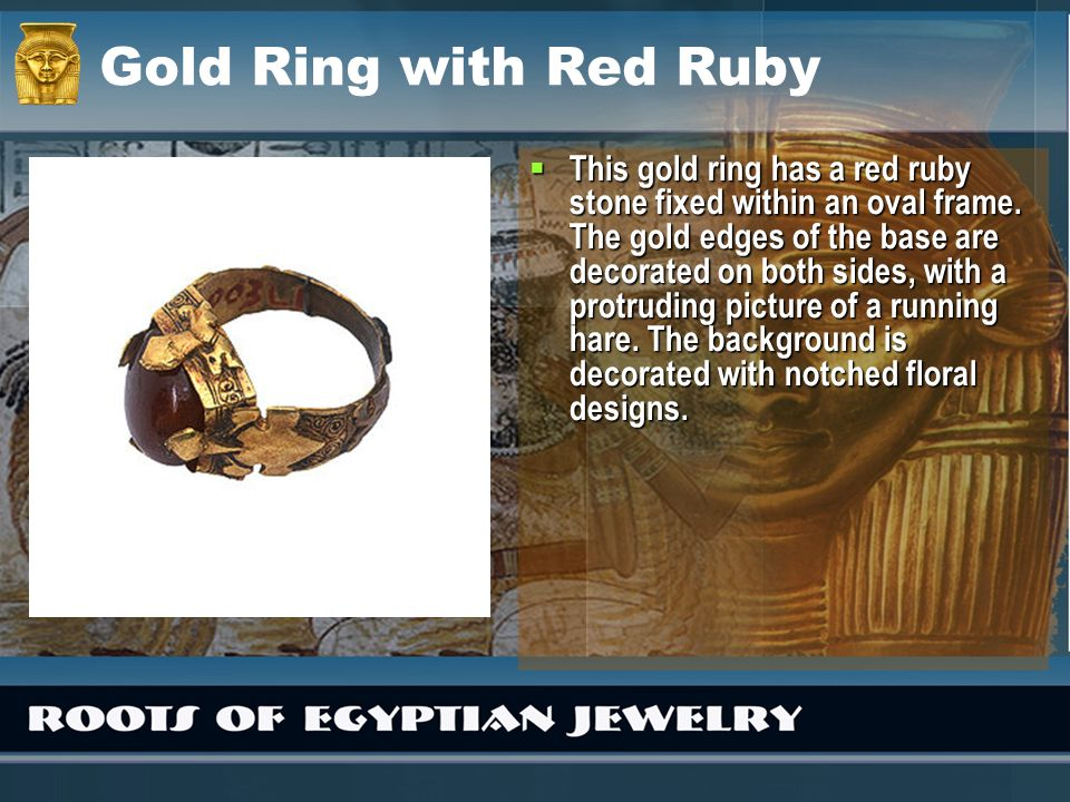 Gold Ring with Red Ruby