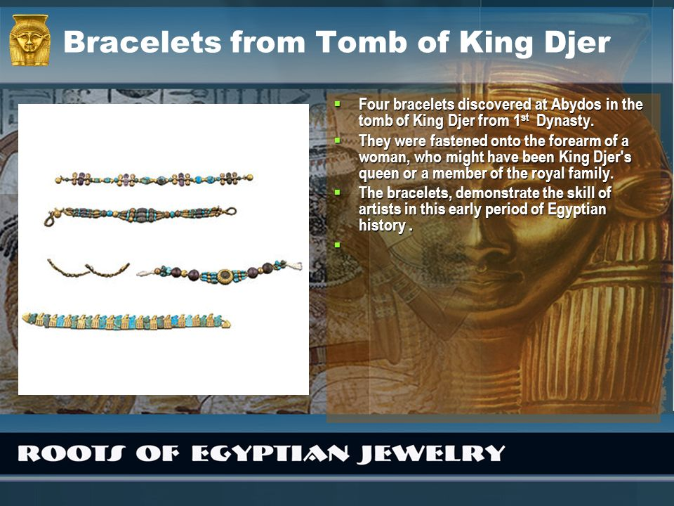 Bracelets from Tomb of King Djer