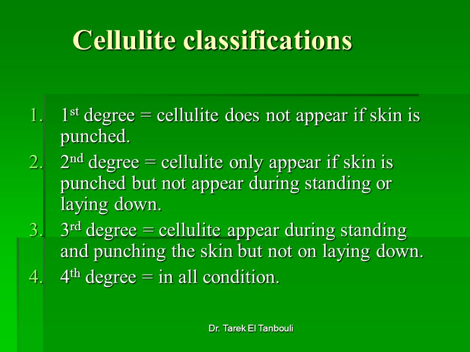 Cellulite classifications